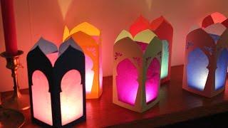 getlinkyoutube.com-How to make LED Lantern out of Plastic Bottle