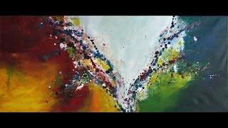 "getlinkyoutube.com-Abstrakte Acrylmalerei ""Karneval"" - Abstract Acrylic Painting ""Carnival"" - StiiN Art"