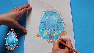"getlinkyoutube.com-How to Draw Shopkins Season 3 ""Brenda Brooch"" Step By Step Easy   Toy Caboodle"