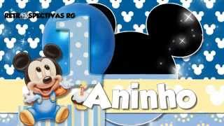 getlinkyoutube.com-Retrospectiva de 1 aninho do Guilherme - Tema Mickey Baby