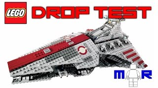 getlinkyoutube.com-LEGO Star Wars Venator DROP TEST! (LEGO 8039!)