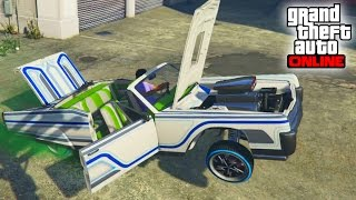 getlinkyoutube.com-EL MEJOR LOWRIDER!! - DLC GTA V Online Lowriders - Tuneando Vapid Chino Lowriders
