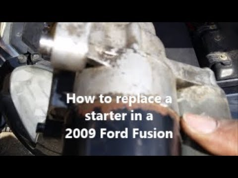 How to replace a starter in a 2009 Ford Fusion