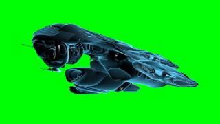 getlinkyoutube.com-futuristic UFO ship in green screen free stock footage