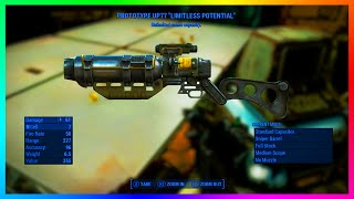 "Fallout 4 Unlimited Ammo Capacity Legendary Weapon ""Prototype UP77"" Laser Rifle Location & Guide!"