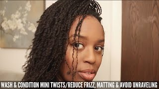 How To Wash and Condition Mini Twists | Reduce Frizz, Matting and Avoid Unraveling - ParisIn85