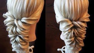 getlinkyoutube.com-Свадебная причёска с помощью резинок - Hairstyles by REM
