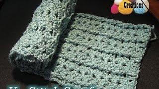 getlinkyoutube.com-V stitch Scarf - Crochet Tutorial