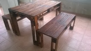 getlinkyoutube.com-COSTRUIRE UNA PANCHINA CON I PALLETS - Bench made from pallets