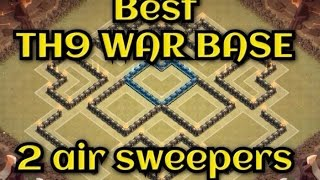 getlinkyoutube.com-COC - Town hall 9 TH9 2 Air sweeper Best war base new update | Spees build | REPLAYS