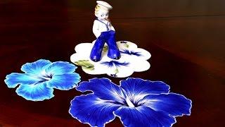 getlinkyoutube.com-ЯРКИЕ Салфетки на стол из ненужной ткани своими руками