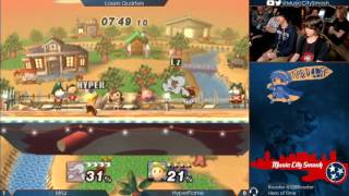 getlinkyoutube.com-TO11 - MrLz (Game and Watch) vs HyperFlame (Lucas) - Project M Losers Quarters