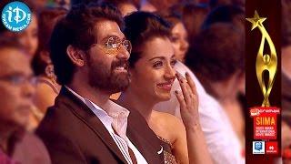 getlinkyoutube.com-Trisha and Rana Smiles for Navdeep Funny Comments @ SIIMA 2014
