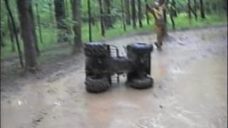getlinkyoutube.com-Lots of Sloppy 4 Wheeler Mudding and My Roll Over! LOL!