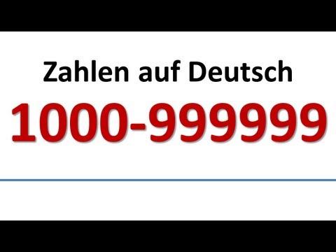 Deutsch: Wortschatz - Zahlen 1000-999999 (deutsche Untertitel)/German: Numbers (German subs)