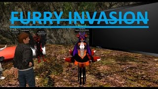 """Second Life: Ted Life """"Furry Invasion"""" (Trolling) RAGE is REAL!"""