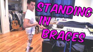 getlinkyoutube.com-Getting in my braces and crutches (Wheelchair user) (Paraplegic)