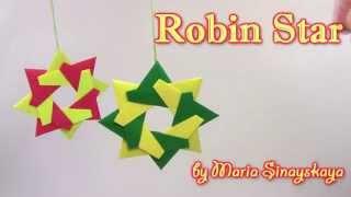 getlinkyoutube.com-Christmas Origami Robin Star  by Maria Sinayskaya -  Yakomoga Origami tutorial