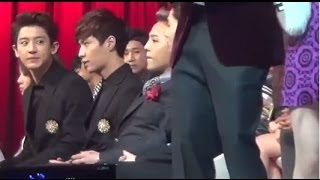 getlinkyoutube.com-[HD Fancam]131229 EXO went to sit beside GD  2/2