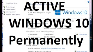getlinkyoutube.com-How To Crack Active Windows 10 Pro/Home/Enterprise | Permanently WINDOWS 10 Pro