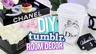 getlinkyoutube.com-DIY Tumblr Room Decor ♥ Chanel Tray, Dior Piggy Bank & More!
