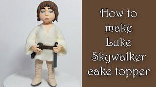 getlinkyoutube.com-How to make Luke Skywalker cake topper / Jak zrobić figurkę Luka Skywalkera