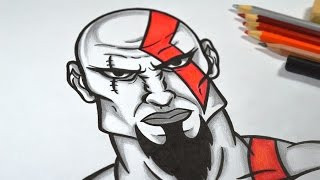 getlinkyoutube.com-Como Desenhar Kratos (God of War) passo a passo