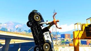 GTA V Unbelievable Crashes/Falls - Episode 83