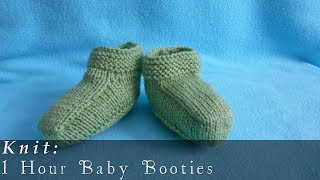 getlinkyoutube.com-1 Hour Baby Booties { Knit }