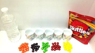 getlinkyoutube.com-كيف نصنع ألوان مائية من السكاكر Skittles نشاط أطفال - ألوان مائية سهلة