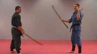 getlinkyoutube.com-Rick Tew Wooden Sword Bokken Ninjitsu weapon Drills Martial Arts and Ninja Training Camp California