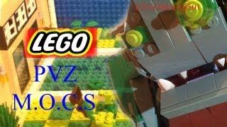 getlinkyoutube.com-Lego Pvz Pool, Plants, and Dr. Zomboss Custom M.O.C.S