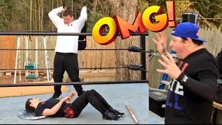 getlinkyoutube.com-INSANELY BRUTAL HARDCORE MATCH! BUCKLE BOMB THROUGH A DOOR! HIT IN FACE WITH SHOVEL!