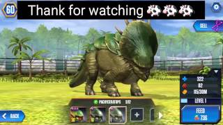PACHYCERATOPS level 40 HYBRID DINO - Jurassic World The Game