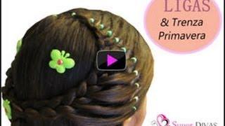 getlinkyoutube.com-Peinados Faciles - Diadema de Trenza y Ligas