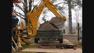 getlinkyoutube.com-Operational Control video of the John Deere 110 tlb backhoe