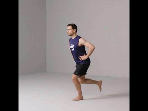 Knieübungen - einbeinige Kniebeugen