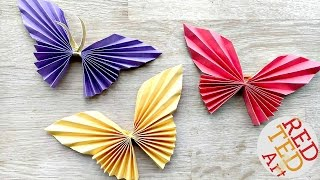 getlinkyoutube.com-Easy Paper Butterfly Origami - Cute & Easy Butterfly DIY - Origami for Beginners