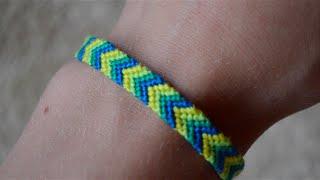 getlinkyoutube.com-Slow-motion beginning of chevron friendship bracelet pt2