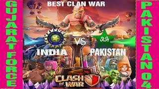 India vs Pakistan War | Best Clan War Highlight | Clash Of Clan