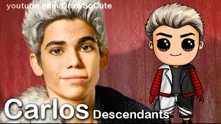 getlinkyoutube.com-How to Draw Carlos from Disney Descendants Cute step by step