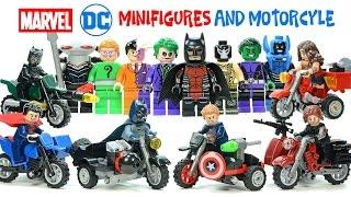 getlinkyoutube.com-Marvel & DC Superheroes Motorcycle Set plus Batman Villains & Teen Titans Lego Knockoff Minifigures