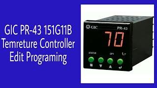 GIC Temperature Controller Programing Setup
