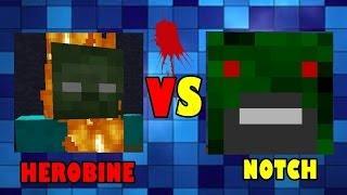 getlinkyoutube.com-ZOMBIE NOTCH VS ZOMBIE HEROBRINE