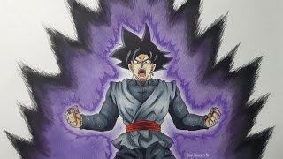 getlinkyoutube.com-Drawing Goku Black Powering Up