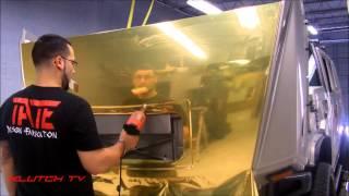 getlinkyoutube.com-GOLD CHROME WRAPPED HUMMER - KLUTCH TV- TATE DESIGN LIVE LIFE CUSTOM