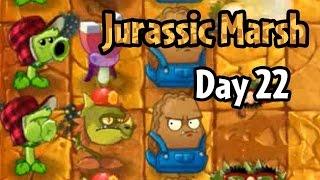getlinkyoutube.com-Plants vs Zombies 2 - Jurassic Marsh Day 22: Last Stand