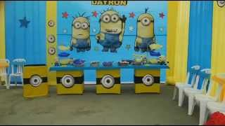 getlinkyoutube.com-Fiestas Infantiles - Decoracion Minions - Travesuras Kids