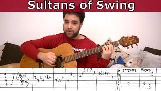 getlinkyoutube.com-Fingerstyle Tutorial: Sultans of Swing - Guitar Lesson w/ TAB