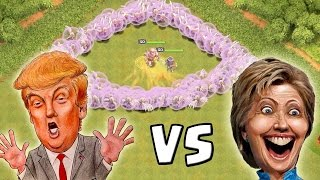getlinkyoutube.com-DONALD TRUMP vs. HILLARY CLINTON! || CLASH OF CLANS || Let's Play CoC [Deutsch/German HD+]